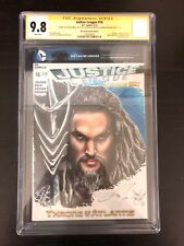 Justice League #16 Cgc Ss 9.8 Signed Jason Momoa Sketched Mercer Aquaman