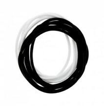 12 Pack Jelly Black & White Gummy Bangles Bracelets Wristbands 80's Fancy Dress