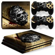 Sony PS4 Playstation 4 Pro Skin Aufkleber Schutzfolie Set - Cannabis Skull Motiv