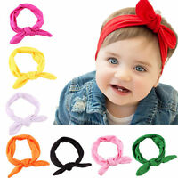 Baby Girls Bunny Kids Turban Knot Rabbit Headband Bow Newborn Hairband Headwrap