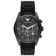 NEW EMPORIO ARMANI MENS BLACK SPORTS CHRONOGRAPH WATCH - AR5889 - RRP £399