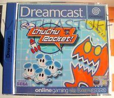 Chu Chu Rocket! Dreamcast Sega, EURO MARKET, UK, DE, FR, ES, PAL, like brand new