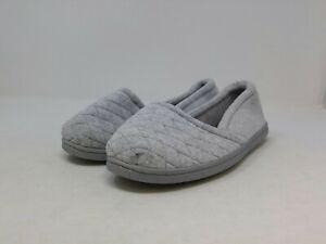 Dearfoams Women's Grey Slip On 10 US