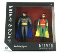 NJ Croce Batman and Robin Bendable Action Figures DC Comics, NEW