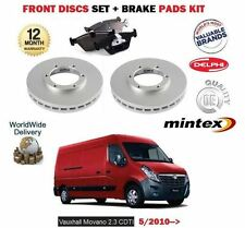 FOR VAUXHALL OPEL MOVANO 2.3 CDTI 2010--> NEW FRONT BRAKE DISCS SET +  PADS KIT