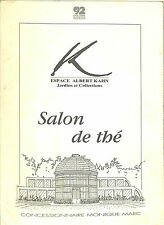 BOULOGNE-BILLANCOURT CARTE SALON DE THE ESPACE ALBERT KAHN