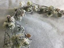 Long Stem Trailing Snowy Cone Artificial Christmas Decorations Foliage Garland