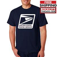 USPS LOGO POSTAL T-SHIRT Shirt Chest United States Service Eagle on Tshirt US