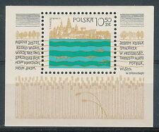 Poland block MNH (Mi. B86) Vistula River program