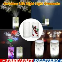 Christmas LED Projection Lamp Candle Projector Night Light Decoration Ornaments