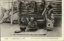Hokkaido Japan Ainu People Customs Costumes Ethnography Postcard #5