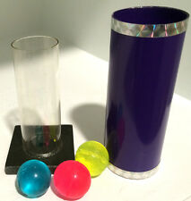 MIRACLE BALLS Magic Trick Tube Close Up Colored Mini Stratosphere Pocket Size