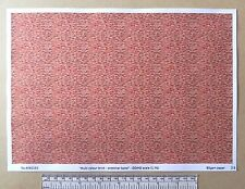 "OO/HO gauge (1:76 scale) ""Multi colour brick-stretcher bond"" -  paper- A4 sheet"