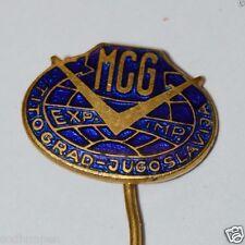 WOW Vintage Mid Century MCG TITOGRAD Yugoslavia Enamel Hat Pin Rare