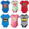 New Superhero Baby Boys Girls Short Sleeve Grow/Romper Suit Fashion Babygrow Top