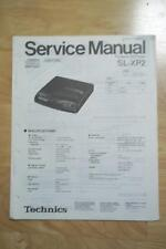 Technics Service Manual for the SL-XP2 CD Player
