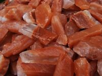 3000 Carat Lots of Unsearched Natural Red Calcite Rough + FREE Faceted Gemstone