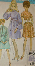 Vintage 1960s Simplicity 8182 Jiffy MOD Tent Dress Pattern 38B sz 16 Unct