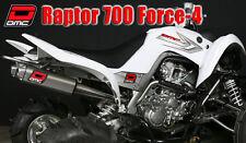 DMC TWIN DUAL EXHAUST FORCE-4 YAMAHA RAPTOR 700 06-14