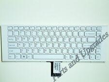 OEM Sony Vaio VPCEG27FM VPCEG27FM/P VPCEG27FM/W Keyboard White With Frame NEW US