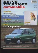 (6A)REVUE TECHNIQUE AUTOMOBILE FIAT CINQUECENTO