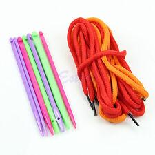 7pcs Needles Magic Multicolor Plastic Crochet Hooks Knitting Yarn Weave