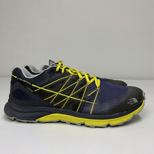 Mens The North Face Ultra Vertical Gore-Tex Trail Running Shoe Sz 11 Blue Yellow