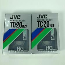 2 Jvc Vhs-C Tc-20 Hgs Video Camcorder Tapes New Sealed