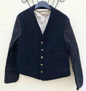 Vintage Great Western Railway Railwayman's Black Jacket,5 GWR Buttons ,3 Pockets