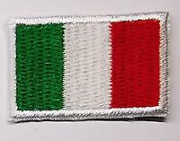 4 TOPPE PATCH RICAMATE TERMOADESIVE KIT ITALIA BANDIERA TRICOLORE 3.5 X 2.5 CM
