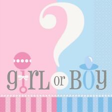 Gender Reveal Baby Shower Boy Girl Party Supplies Tableware Decorations 20 Napkins 33cm