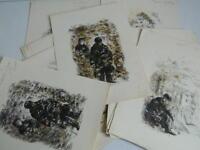 suite de gravures en aquarelle illustration des poèmes de Paul Verlaine