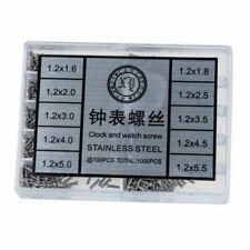 Boîte de 1000 Pèces Petites Vis inox pour Réparation Montre Lunette (07010302)