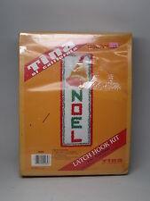 Vintage Tina of California Latch Hook kit craft Christmas Noel Bell Wall Hanging