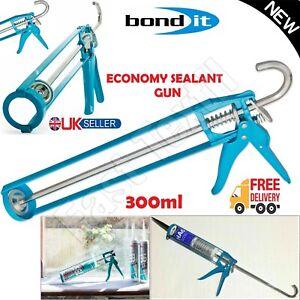 Silicone Sealant Adhesive Caulking Heavy Duty 300ML Tube Skeleton Mastic Gun New