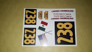 1/32 decals ONLY- STUDEBAKER - VCarrera Panamericana 54