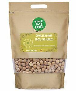 Chick Peas 8mm (Ideal for Humus)    GMO Free   Natural   Vegan   Dairy Free   No
