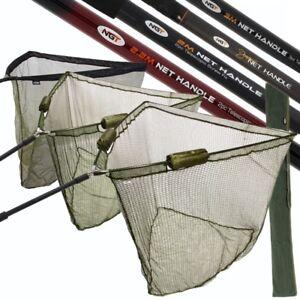 "NGT FISHING NET HANDLE FISHING NETS 36"" 42"" 50"" DUAL FLOAT NET STINK BAG HANDLES"