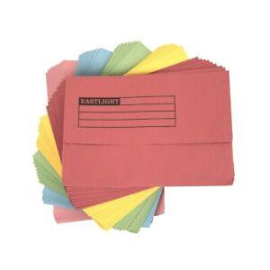 Document Wallets Half Flap A4 Foolscap 285 gms Cardboard Manilla Filing Folder