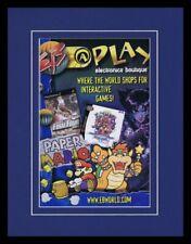 2001 Electronics Boutique EB Paper Mario 11x14 Framed ORIGINAL Advertisement