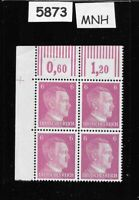 #5873   MNH Hitler stamp block / 1941 PF06 / Original Third Reich Germany Block