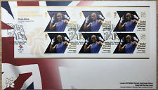 (46033) GB FDC London Olympic Games Gold minisheet Nicola Adams 2012