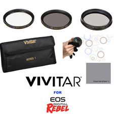 58mm CPL-MC UV-ND4 filter kit for Canon EOS Rebel T1i T2i T3i with 18-55mm Lens