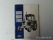 Ford 5600, 6600 and 7600 Operator's Manual