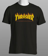 Thrasher Magazine In Flames Skateboarding T Shirt Mens Ladies Kids Sizes