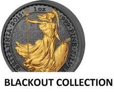 2015 1 OZ SILVER BRITANNIA BLACKOUT COLLECTION RUTHENIUM-24KT