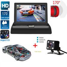 170° HD Caméra de Recul vision nocturne + 4.3'' LCD Moniteur vue arrière Voiture