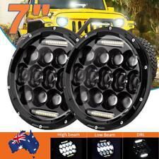 2x 7inch Round CREE LED Headlight High Low Beam DRL For Jeep Wrangler JK TJ LJ