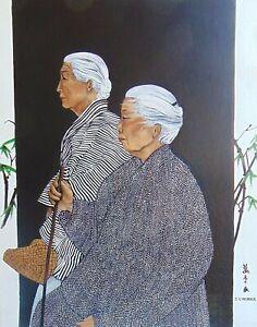 Fine Art Print by Marianne L'Heureux - Pilgrims to Nara, Japan