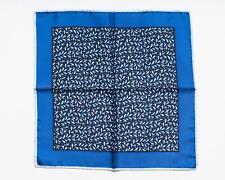 Tom Ford New Blue White Floral Pattern 100% Silk Pocket Square 40cm